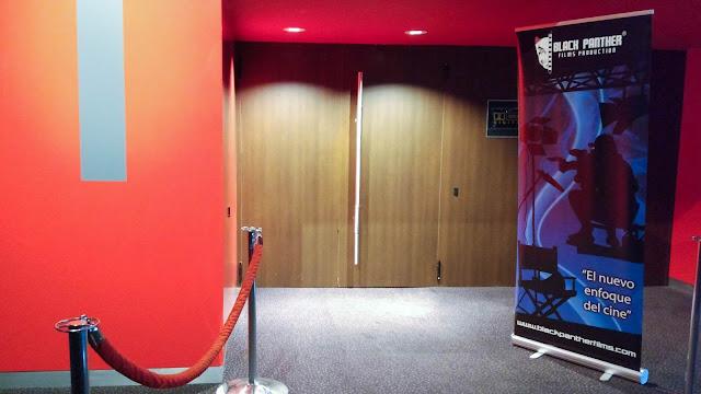 La sala de cine en la que se emitían los distintos cortos del festival