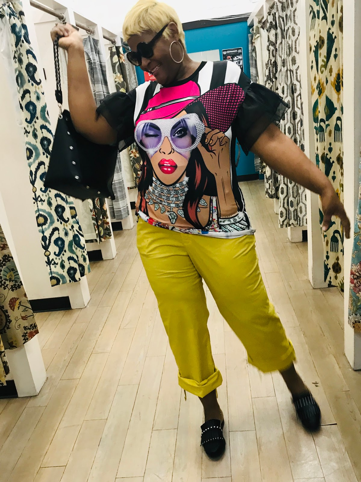Image: Woman trying on clothes at the buffalo exchange thrift store. I've been invited to a lot of things but never to a worst dressed New Years Party. What in the world do you wear and who came up with this idea? Nonetheless, I am excited about attending something different that is fun for adults to enjoy. #NewYear2019