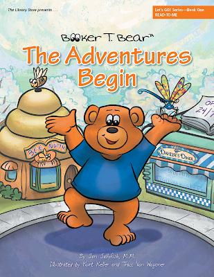 children's book, Booker T. Bear The Adventures Begin written by Jen Jellyfish, M.M., illustrated by Traci Van Wagoner and Kurt Keller at Imagine That! Design