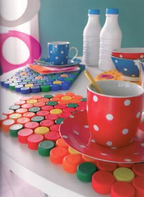 reciclar reciclagem tampinha tampinhas garrafa pet artesanato sustentabilidade sustentavel joguinho jogo americano porta copo