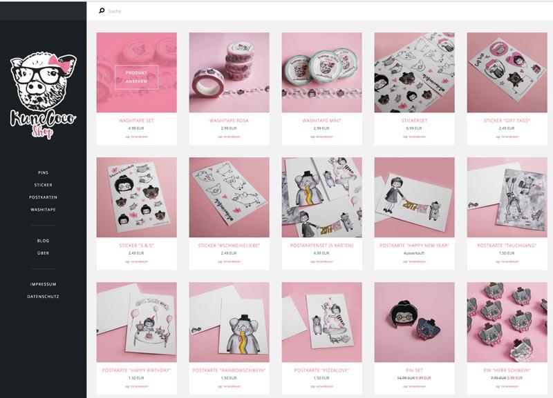 KuneCoco • Mein eigener Onlineshop • Tictail