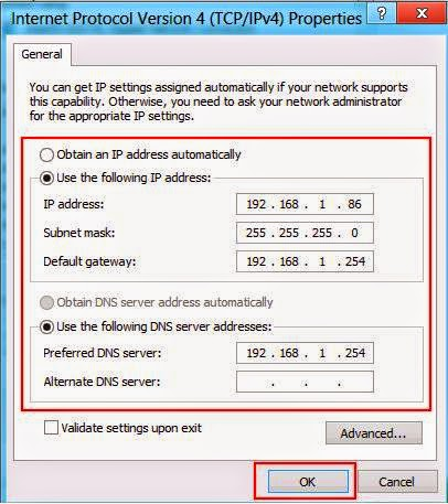 Static IP address