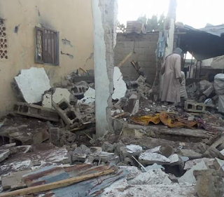 Graphic photos: Ten worshippers killed as female suicide bomber attacks mosque in Gamboru Ngala, Borno