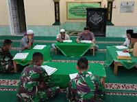 Tingkatkan Kualitas Keimanan dan Ketaqwaan,  Prajurit Yonif 407/PK Lakukan Tadarusan