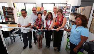 Fernando Castellanos sigue rescatando espacios públicos e inaugura biblioteca en el barrio Niño de Atocha