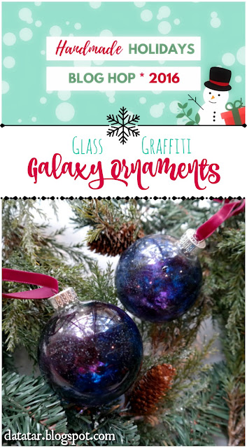 DIY Glass Graffiti Glass Ornament Video Tutorial by Dana Tatar