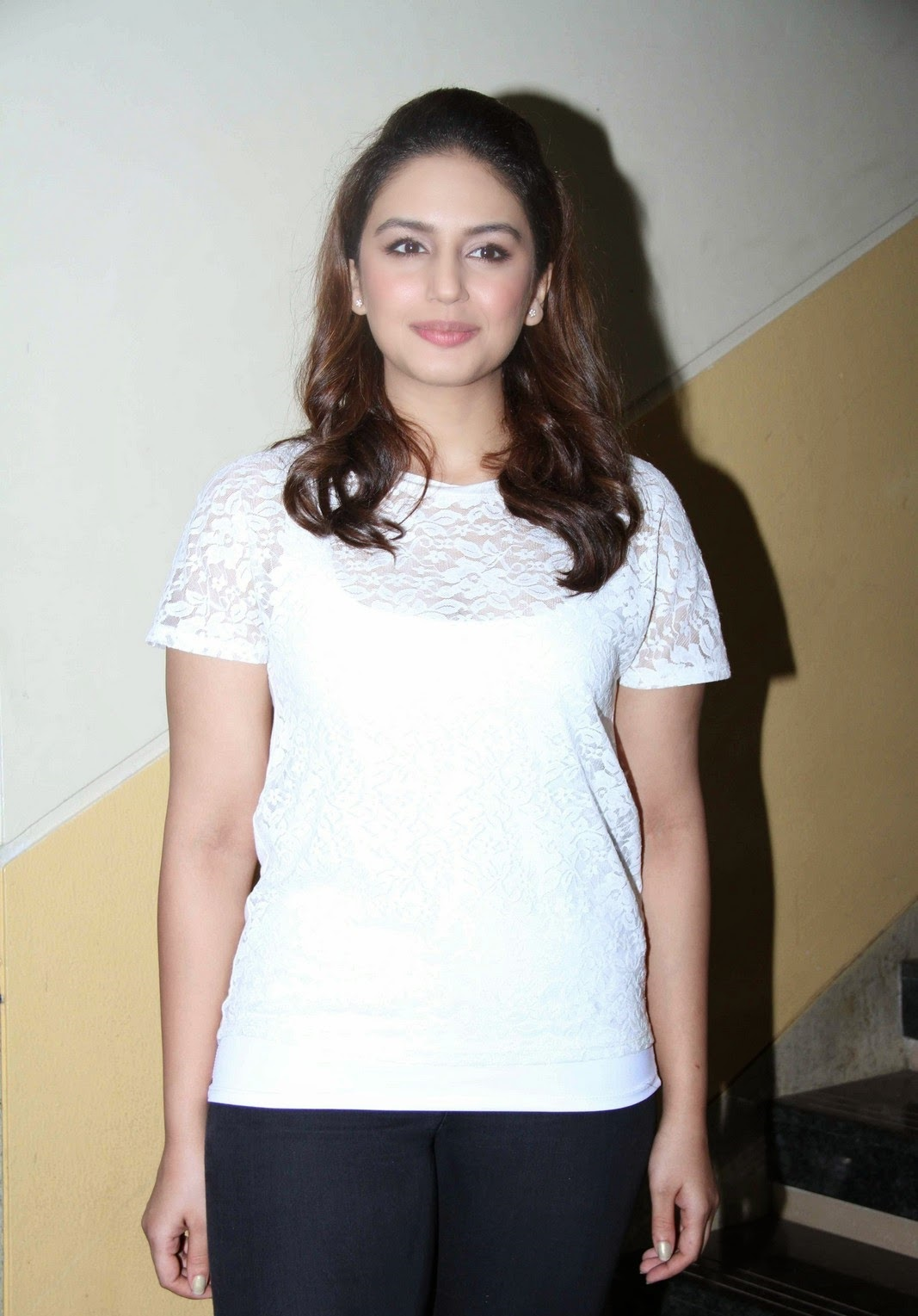 Hindi model Huma Qureshi Hot Photos In White Dress
