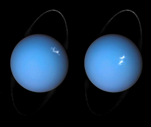 auroras polares em Urano - 2017