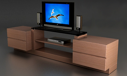 free 3d model tv table free 3d model. Black Bedroom Furniture Sets. Home Design Ideas
