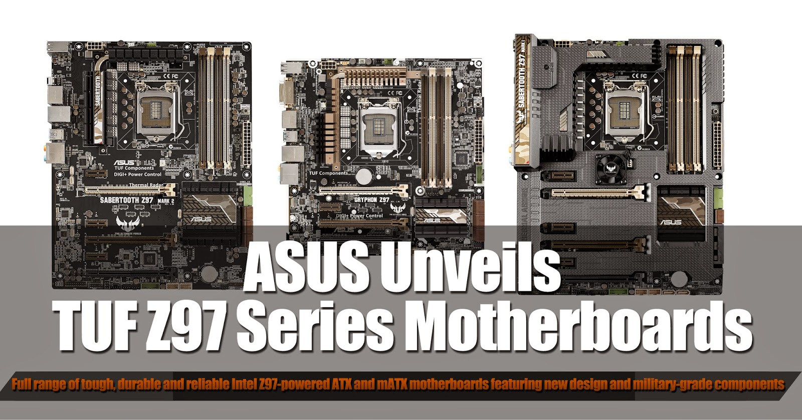 ASUS Unveils TUF Z97 Series Motherboards