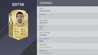GIANLUIGI BUFFON fifa 18