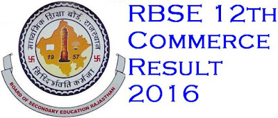 RBSE 12th Board Commerce 2016 Exam Result