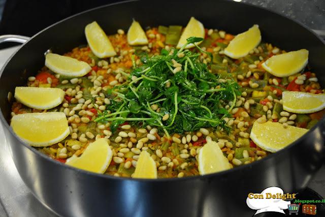 פאייה עוף וירקות Paella chicken and veggies