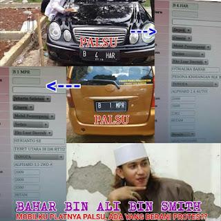 Pakai Plat Mobil Palsu, Polisi Diminta Periksa Habaib Bahar