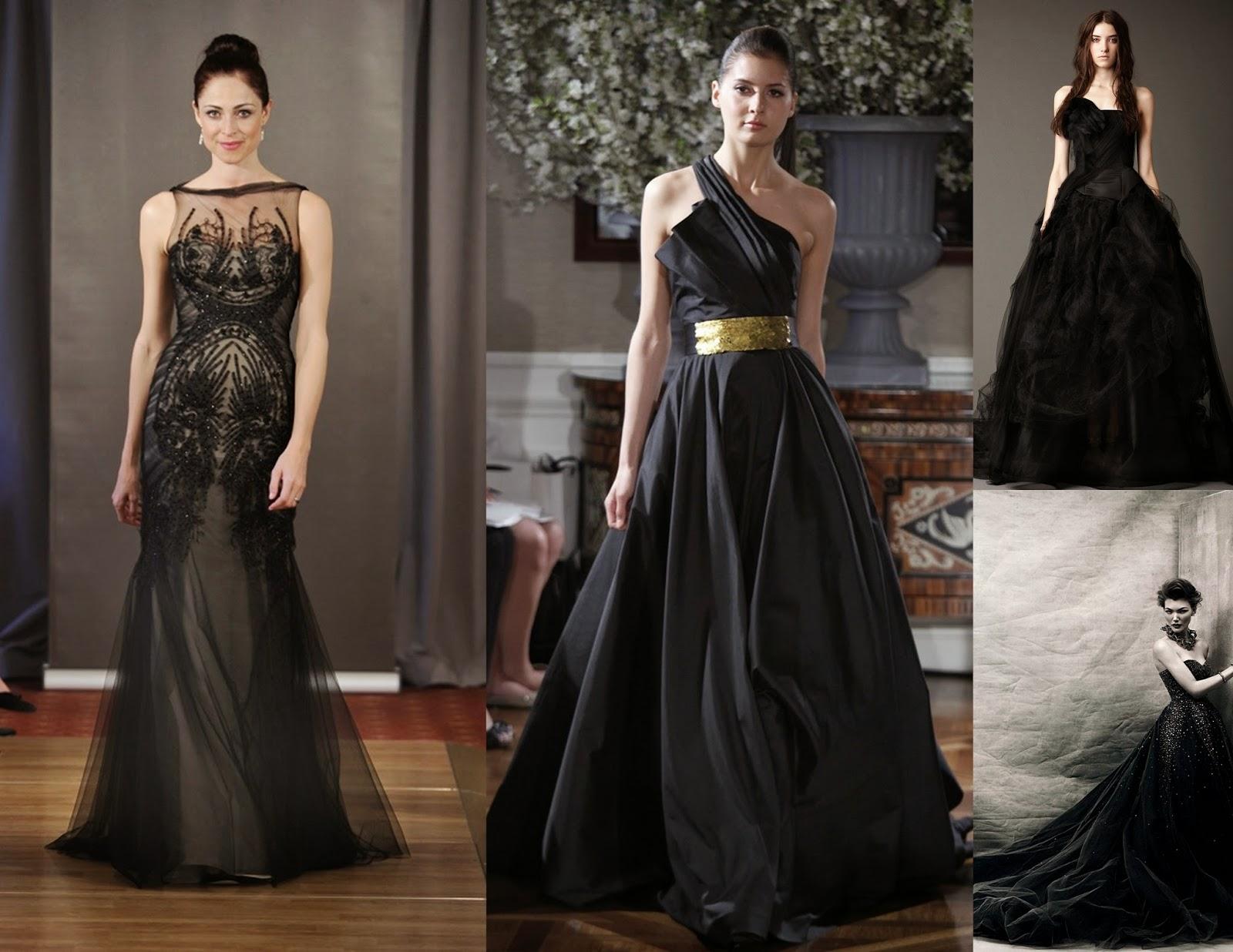Black Wedding Dress Vera Wang Black Wedding Dress