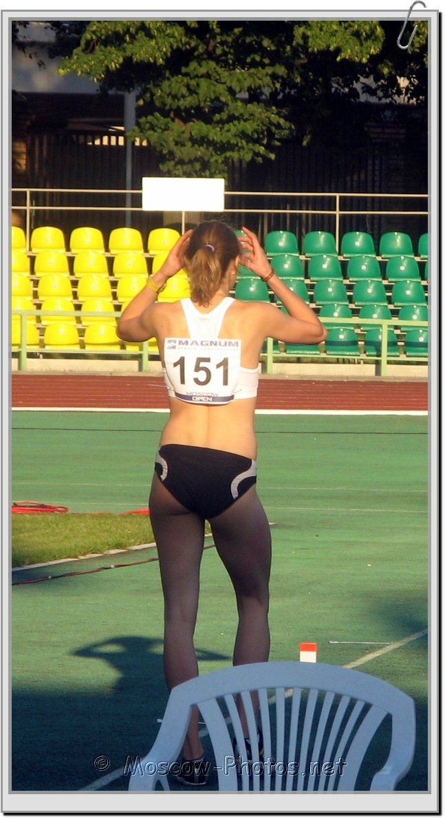 Long Jump Athlete Preparing at Moscow Athletics Open 2010