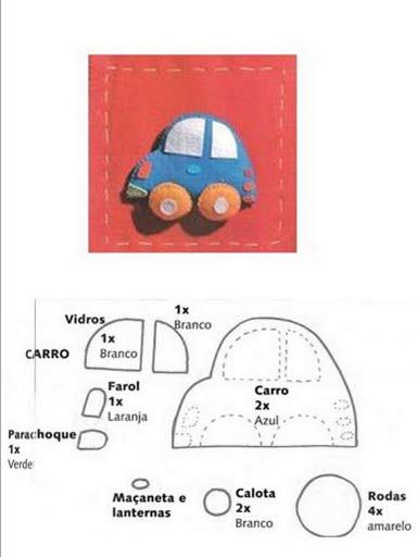 Manualidades niños, molde para hacer un coche día del padre