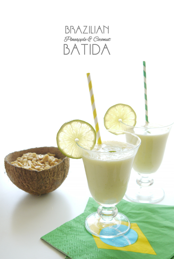 Brazilian Pineapple & Coconut Batida Cocktail Recipe - BirdsParty.com