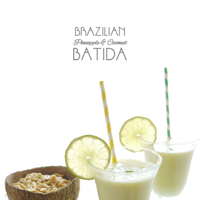 Brazilian Pineapple & Coconut Batida Cocktail Recipe