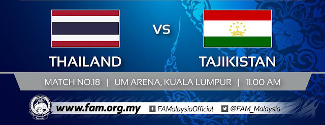 Live Streaming Thailand vs Tajikistan AFC U16 27.9.2018