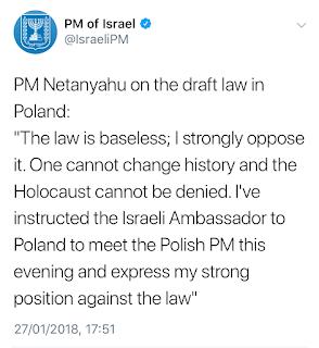 Tweet by Benjamin Netanyahu