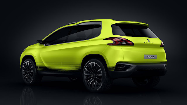 The Peugeot 2008 Concep back side
