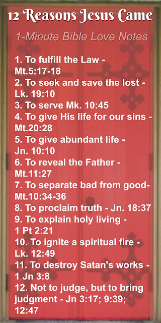 12 Reasons Jesus Came