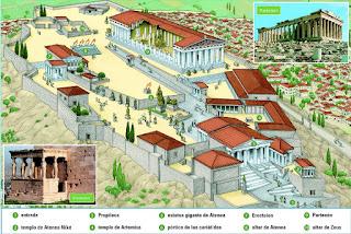 Así era la Acrópolis de Atenas.