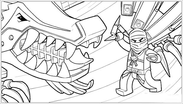 Goldener Ninjago Malvorlage Malvorlagencr