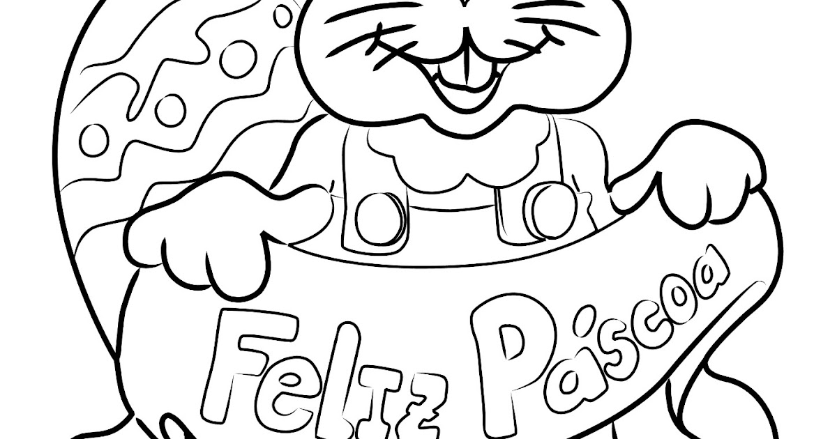 Para Colorir: Figura Coelho Da Pascoa Para Pintar