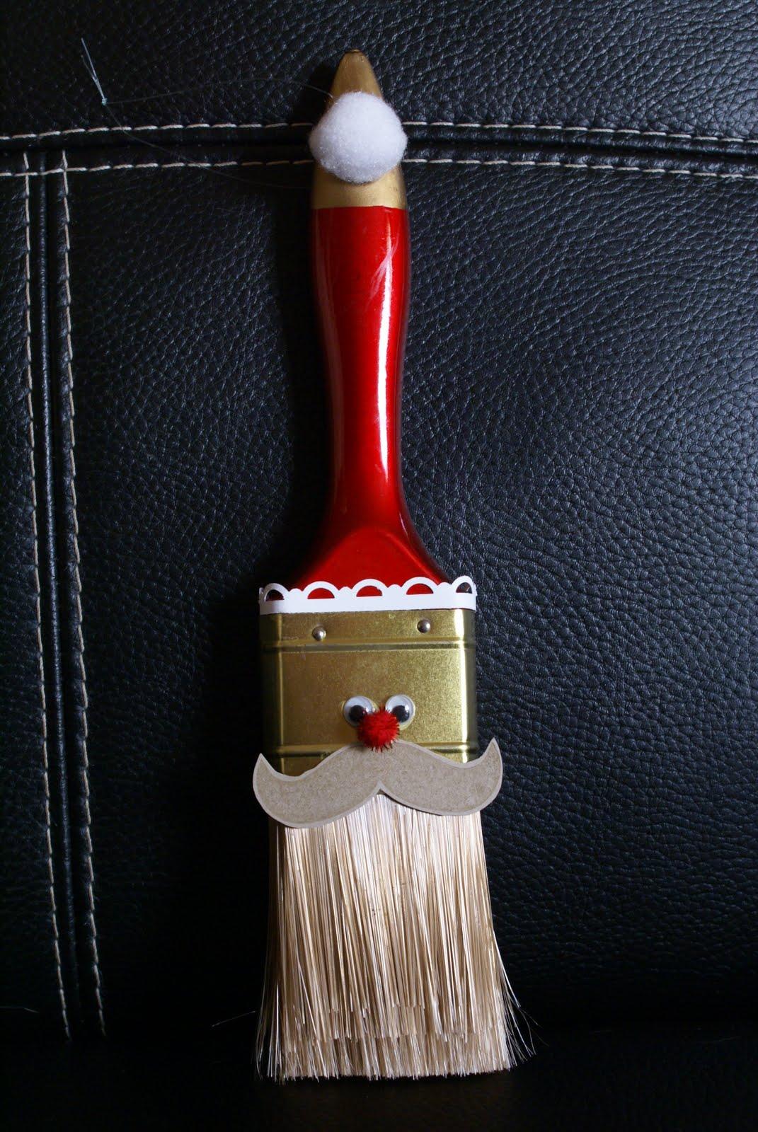 robbynw santa paintbrush ornament. Black Bedroom Furniture Sets. Home Design Ideas