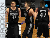 NBA 2K13 Brooklyn Nets Practice Away Jersey
