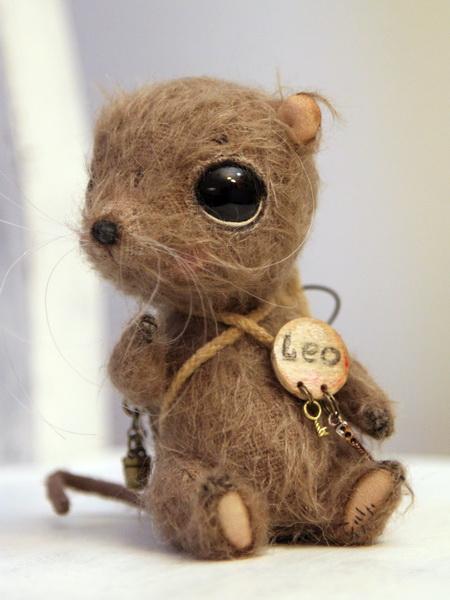 мышка, handmade, авторские мышки, авторские мишки тедди