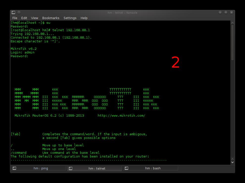 Cara konfigurasi MikrotikRB melalui telnet di linux mageia
