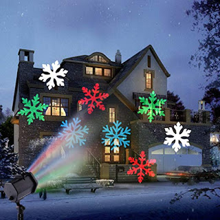 proiettore led neve rgb esterno natale maxexcell