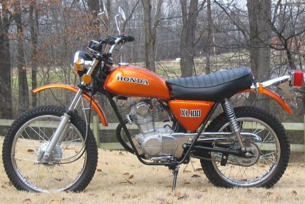 Honda XL100 Motorcycle Complete Wiring Diagram