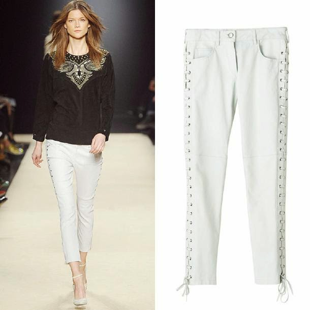 White+lace-up+pants