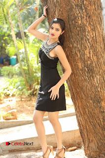 Actress Poojitha Pallavi Naidu Stills in Black Short Dress at Inkenti Nuvve Cheppu Movie Platinum Disc Function  0242.JPG