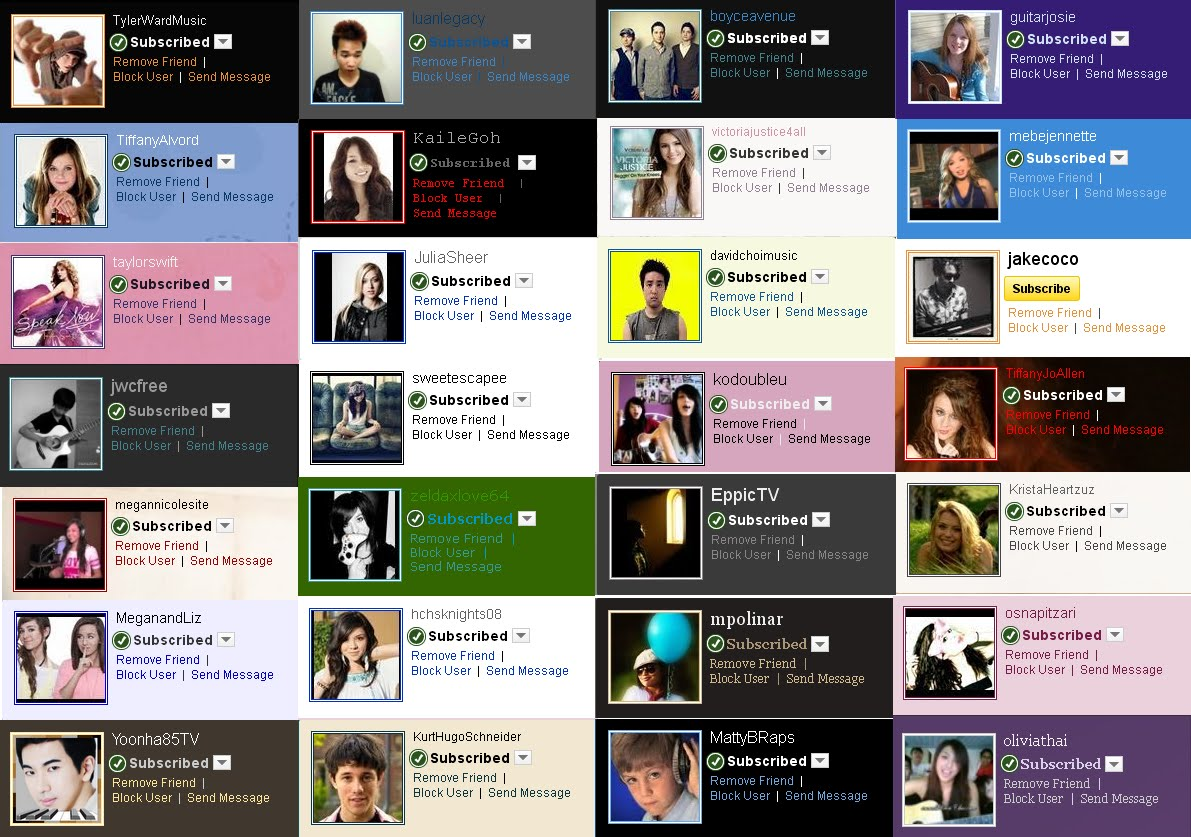 Over the Clouds  : My Youtube Celebrities Friends