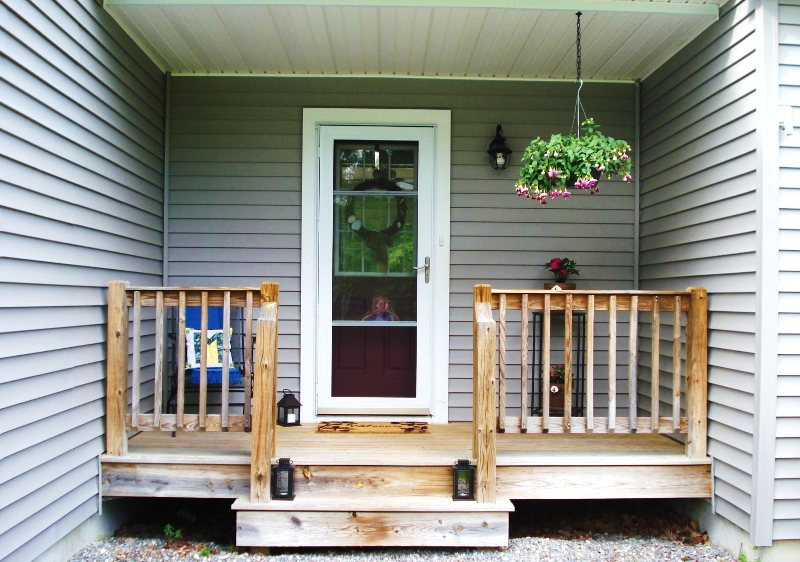 Heart Maine Home Before And After Welcoming Front Porch