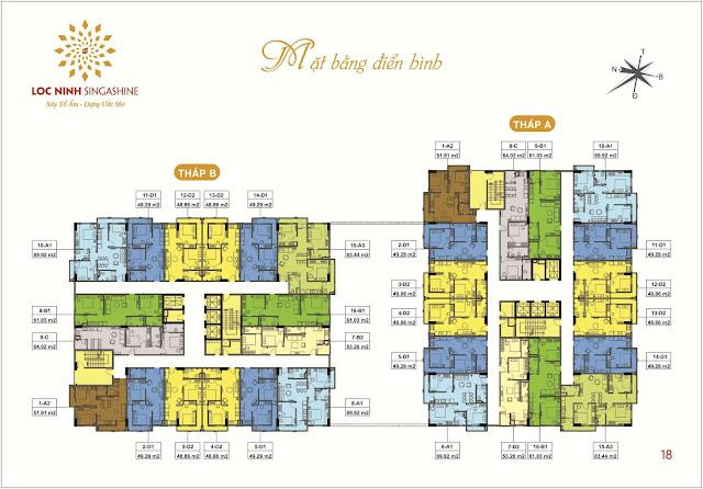 Thiết kế căn hộ chung cư Lộc Ninh.