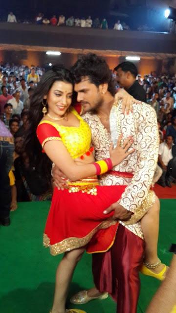 Akshara singh and Khesari Lal