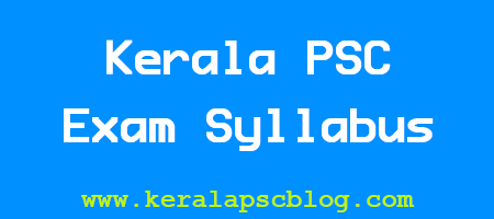 Kerala PSC Stenographer Grade 4 Exam Syllabus