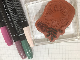 Colouring on Stamps with Stampin Write Markers