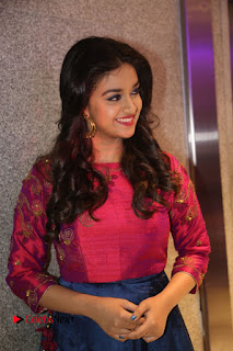 Actress Keerthi Suresh Stills at Remo Success Meet  0089.JPG