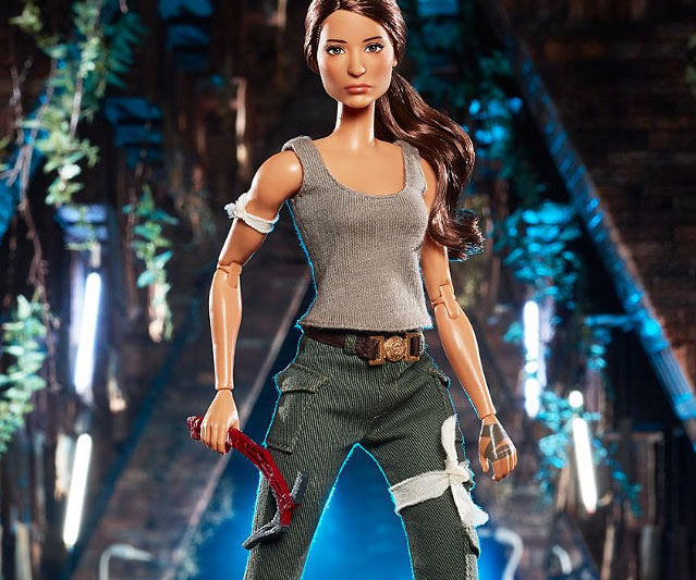 Fuel your little thrill-seeker's imagination during playtime by surprising her with this Tomb Raider Lara Croft Barbie doll. This Lara Croft Barbie sports her iconic outfit along with accessories like a map, journal, and axe – everything she'll need on her next adventure.