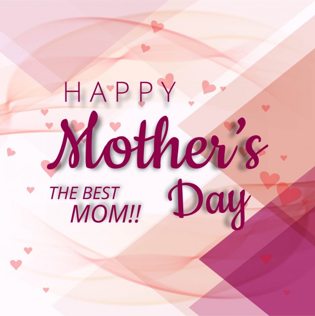 Abstract mother's day design Free Vector