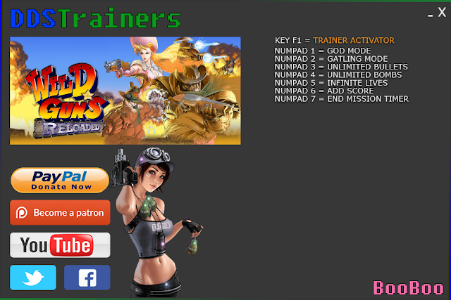 Wild Guns Reloaded Trainer Cheat for PC