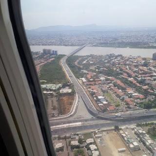 Vista Aerea del ingreso a Guayaquil Ecuador