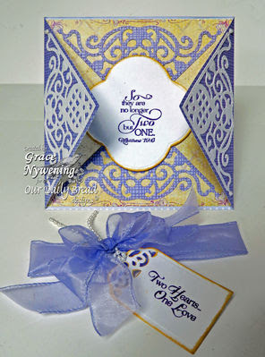 Stamps - Our Daily Bread Designs Love Scriptures, To The Lovebirds,  ODBD Custom Decorative Corners Dies, ODBD Custom Quatrefoil Design Dies, ODBD Custom Recipe Card and Tags Die